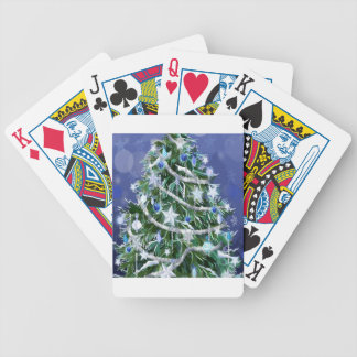Abstract Cool Christmas Tree Times Poker Deck