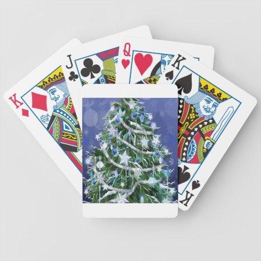 Abstract Cool Christmas Tree Times Poker Deck