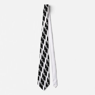 Abstract Cool Chrome Ying Yang Tie