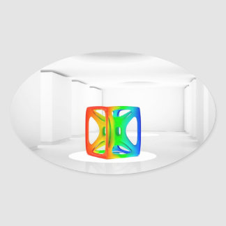 Abstract Cool Colour Cube Stickers