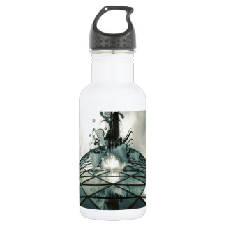 Abstract Cool Fantastic Glass Building 532 Ml Water Bottle