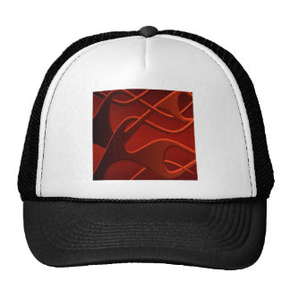 Abstract Cool Fire Mix Mesh Hat