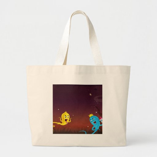 Abstract Cool Ghoulie Ghouls Canvas Bag