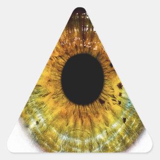 Abstract Cool Green Eye Sticker
