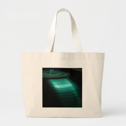 Abstract Cool Green Record Tote Bag
