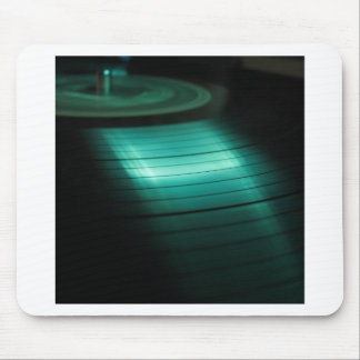 Abstract Cool Green Record Mousepads