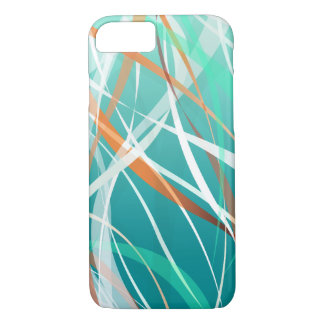 Abstract Cool Green Waves Background iPhone 7 Case