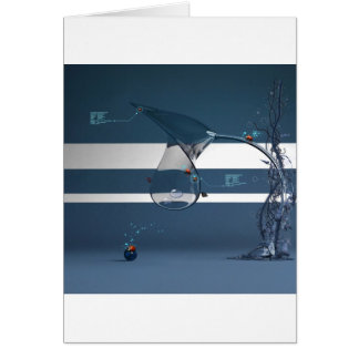 Abstract Cool Lady Bird Water Lamp Card