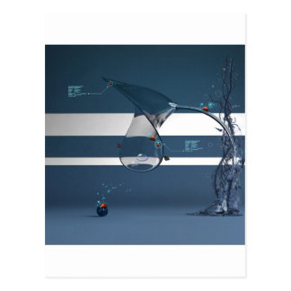 Abstract Cool Lady Bird Water Lamp Postcard