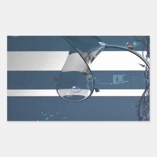 Abstract Cool Lady Bird Water Lamp Rectangular Sticker