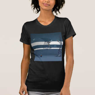 Abstract Cool Lady Bird Water Lamp T-Shirt
