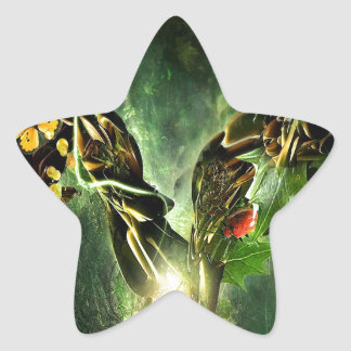 Abstract Cool Ladybird Butterfly Vines Star Sticker