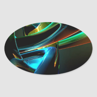 Abstract Cool Light Show Sticker