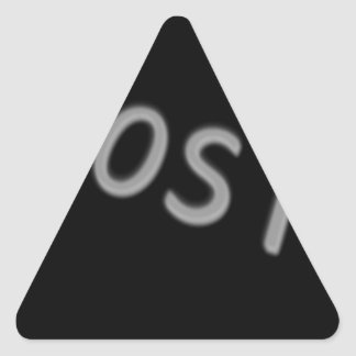 Abstract Cool Lost Triangle Sticker