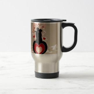 Abstract Cool Lovers Heart Mug