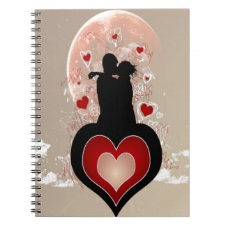 Abstract Cool Lovers Heart Notebooks