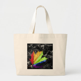 Abstract Cool Maple Leaf Colours Canvas Bags