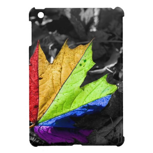 Abstract Cool Maple Leaf Colours iPad Mini Cases