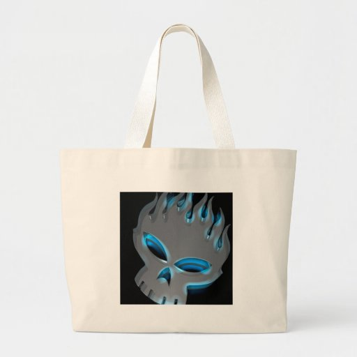 Abstract Cool Offspring Skull Canvas Bags