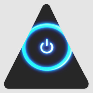 Abstract Cool Onto Blue Power Triangle Sticker