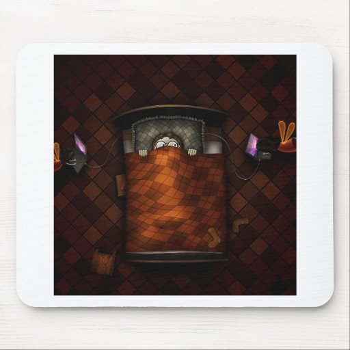 Abstract Cool Scary Bedtime Boy Mouse Pads