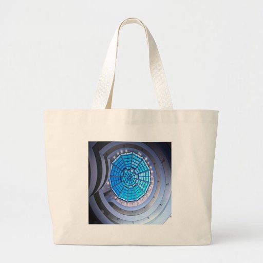 Abstract Cool Spiral Tower Blue Bags