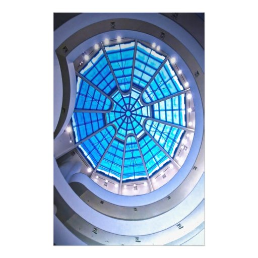 Abstract Cool Spiral Tower Blue Custom Stationery