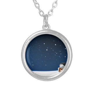 Abstract Cool Starry Snow Land Necklace
