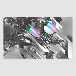 Abstract Cool Transformation Robotics Rectangular Sticker