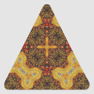 Abstract cool trendy Pattern Triangle Sticker