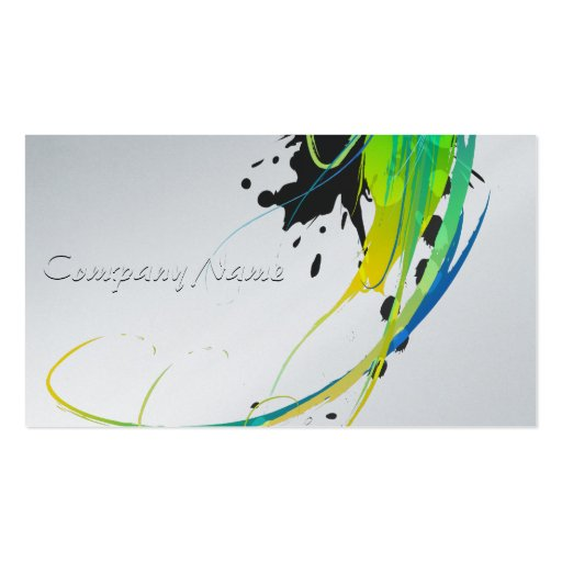 Abstract cool waters Paint Splatters Business Card Template