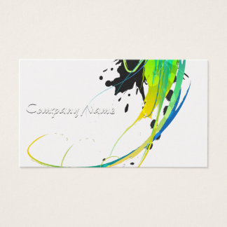 Abstract cool waters Paint Splatters Business Card