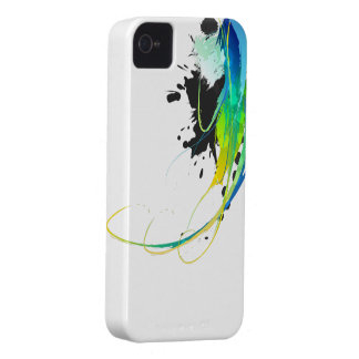 Abstract cool waters Paint Splatters iPhone 4 Case-Mate Cases
