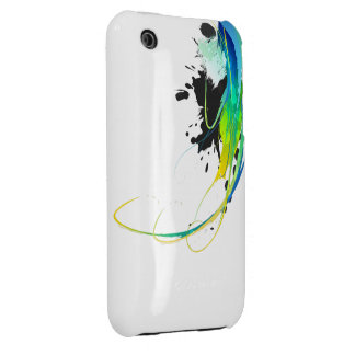 Abstract cool waters Paint Splatters iPhone 3 Case-Mate Cases