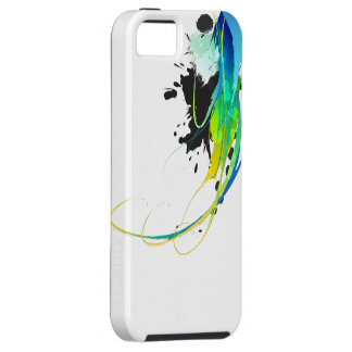 Abstract cool waters Paint Splatters iPhone 5 Case