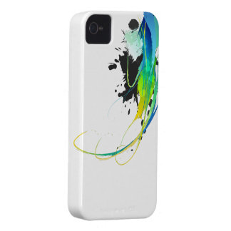 Abstract cool waters Paint Splatters iPhone 4 Case