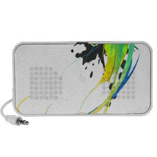Abstract cool waters Paint Splatters Mini Speakers