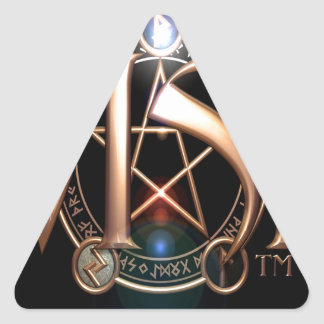 Abstract Cool Wish Logo Triangle Sticker