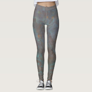 Abstract copper leggings