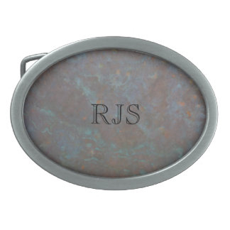 Abstract copper oval belt buckles