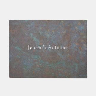Abstract copper retail doormat