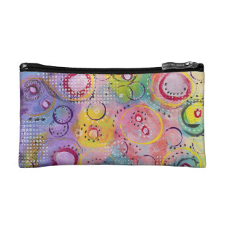 Abstract Cosmetic Zipper Pouch, Cosmetic Bag