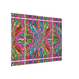 Abstract Cosmic Explosion Art - Graphic Spectrum Stretched Canvas Prints