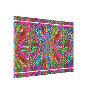 Abstract Cosmic Explosion Art - Graphic Spectrum Canvas Print