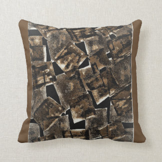 Abstract cotton throw pillow. cushion
