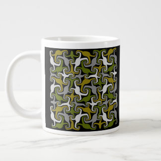 Abstract Crabs Giant Coffee Mug