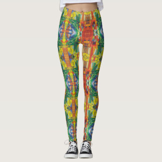 Abstract Created From Franz Marc's Landscape Leggings