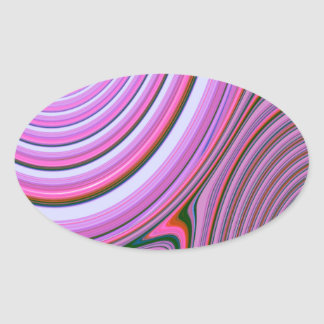 Abstract Creation Oval Stickers