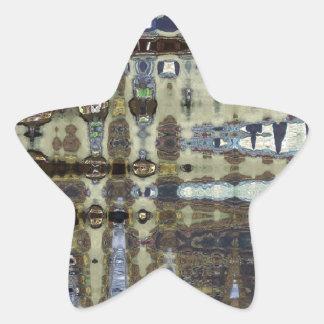 ABSTRACT CROCODILE  SKIN 10 STAR STICKER