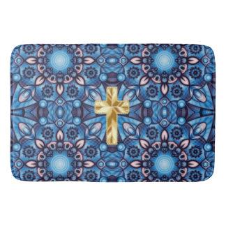 abstract cross christian bath mat bath mats
